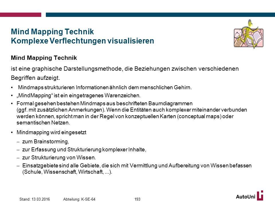 Mind Mapping Technik Komplexe Verflechtungen visualisieren