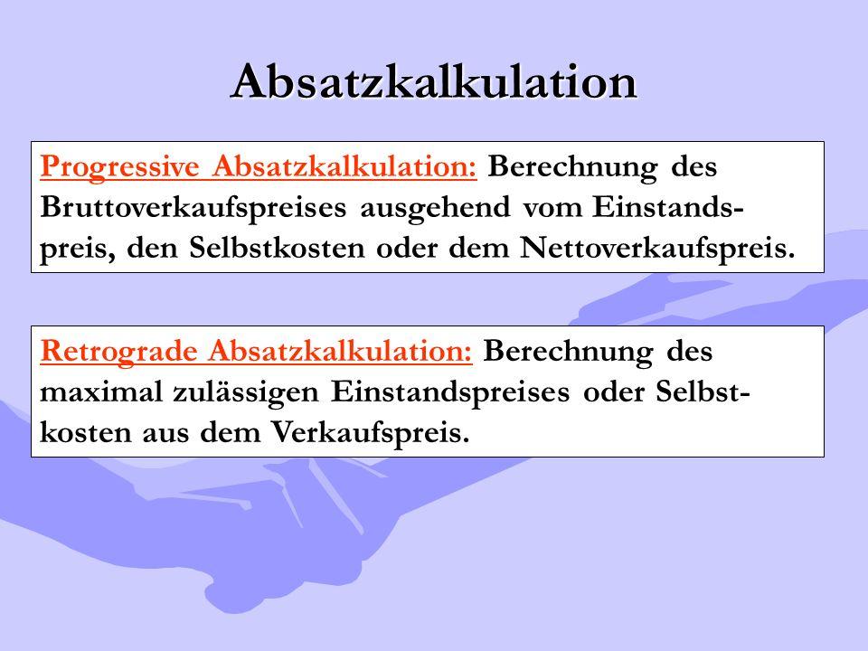 Absatzkalkulation