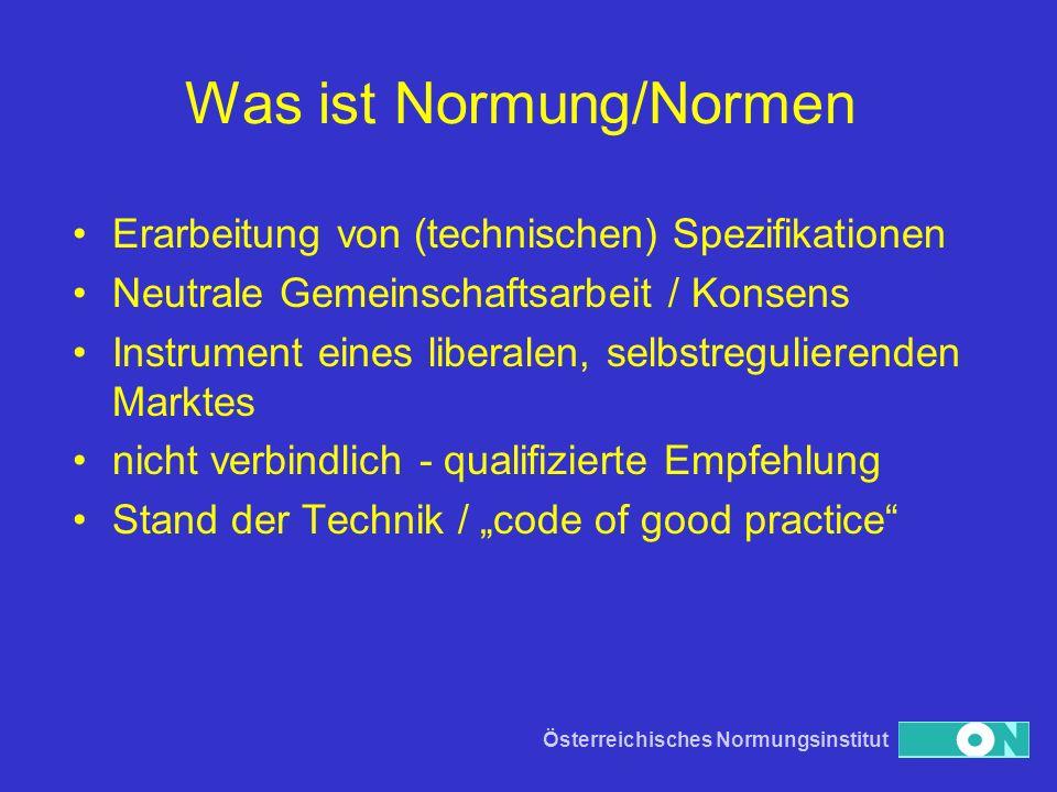 Was ist Normung/Normen