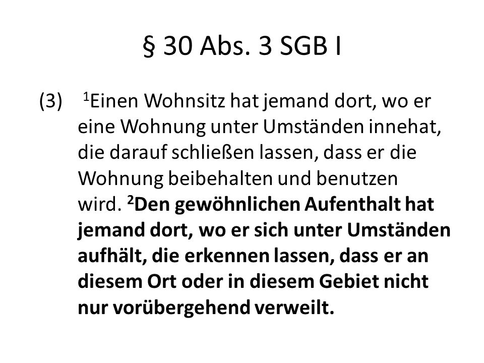 § 30 Abs. 3 SGB I