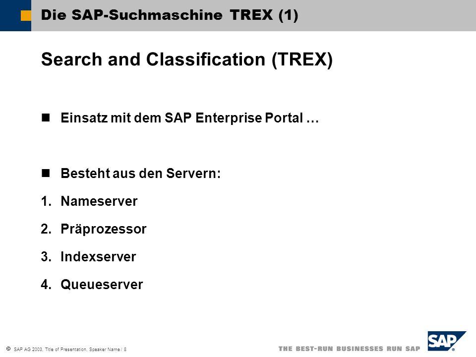 Die SAP-Suchmaschine TREX (1)