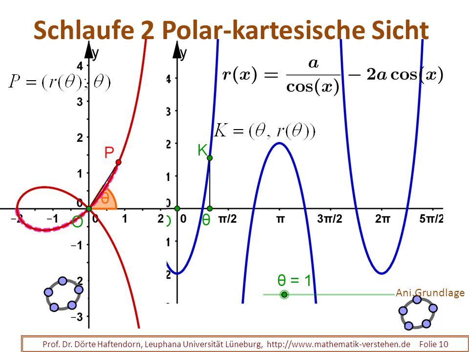 Schlaufe 2 Polar-kartesische Sicht