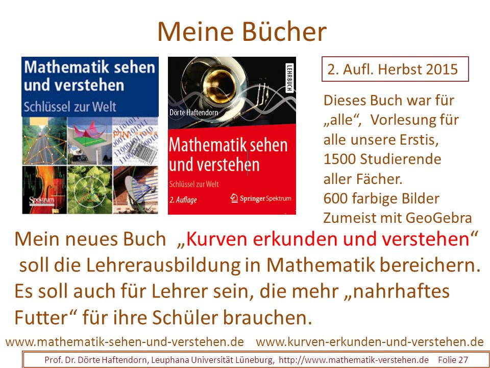 """Meine Bücher Mein neues Buch """"Kurven erkunden und verstehen"""