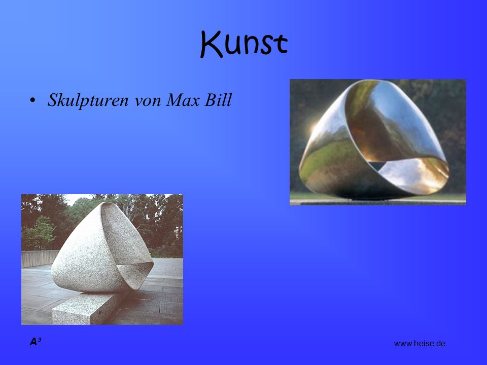 Kunst Skulpturen von Max Bill A³ www.heise.de