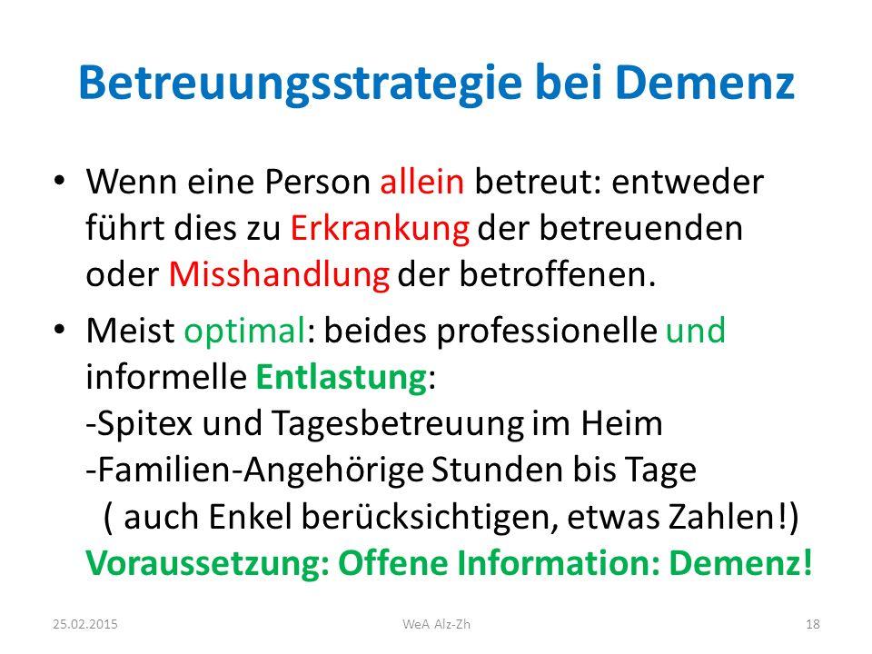 Betreuungsstrategie bei Demenz