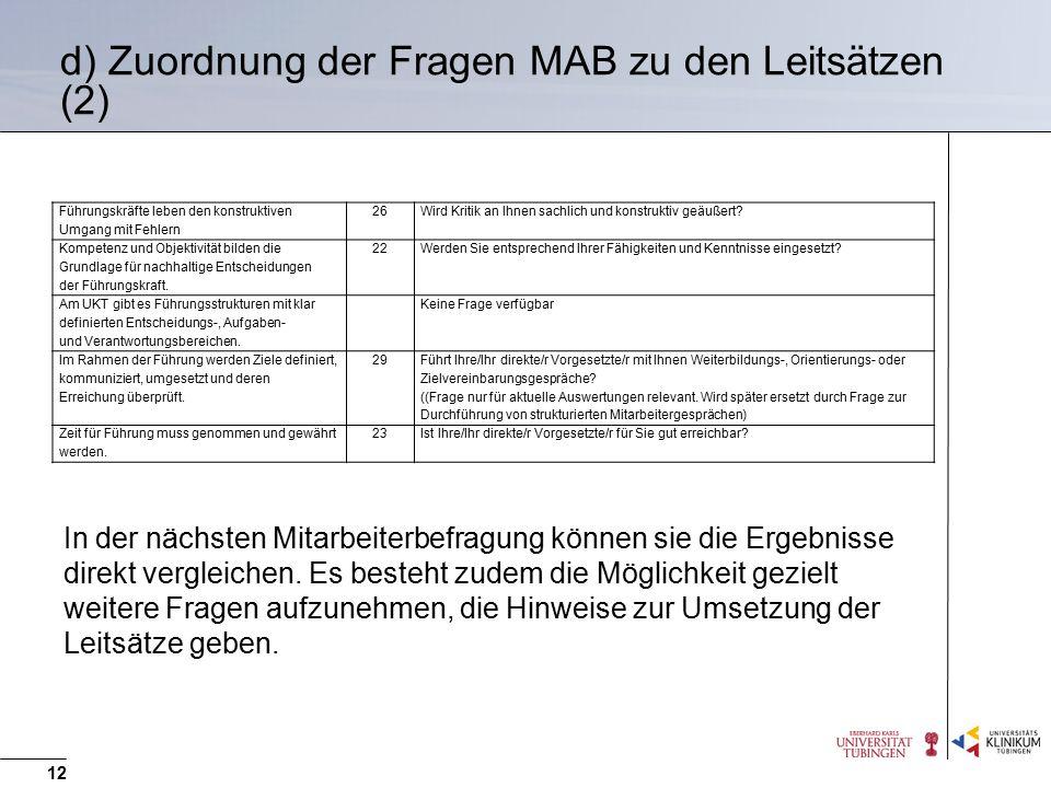 d) Zuordnung der Fragen MAB zu den Leitsätzen (2)