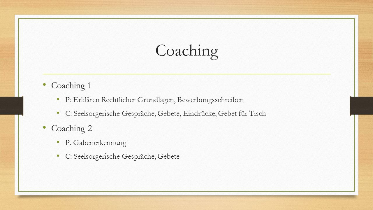 Coaching Coaching 1 Coaching 2