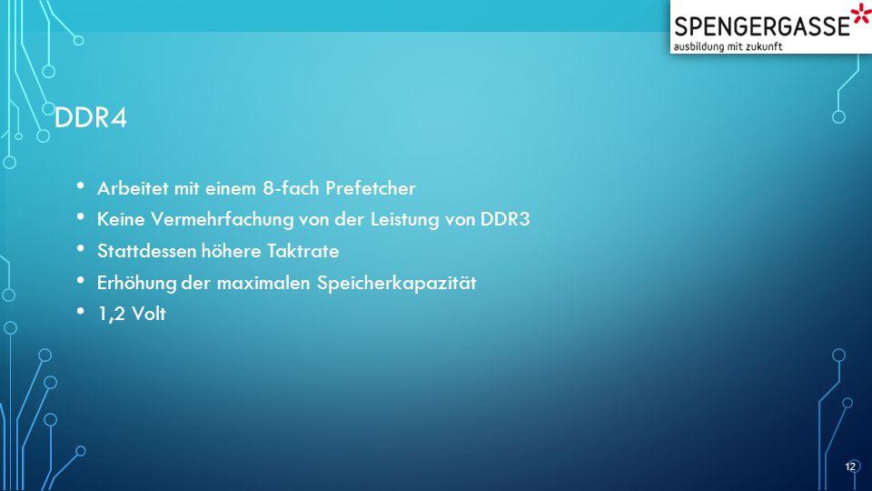 DDR4 Arbeitet mit einem 8-fach Prefetcher