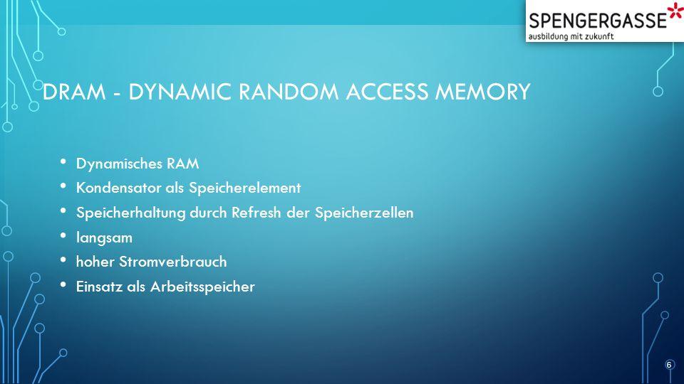 DRAM - Dynamic Random Access Memory