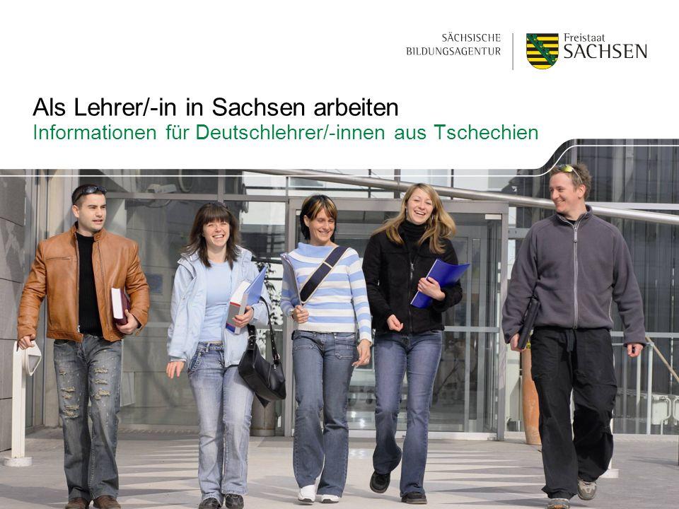 Als Lehrer/-in in Sachsen arbeiten