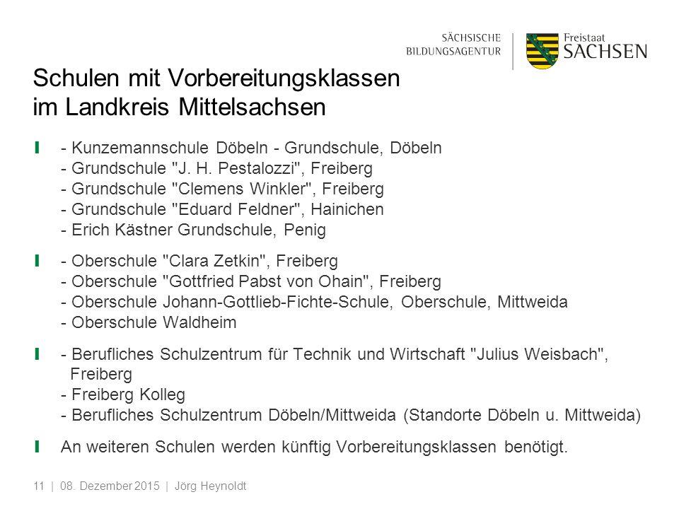 Schulen mit Vorbereitungsklassen im Landkreis Mittelsachsen