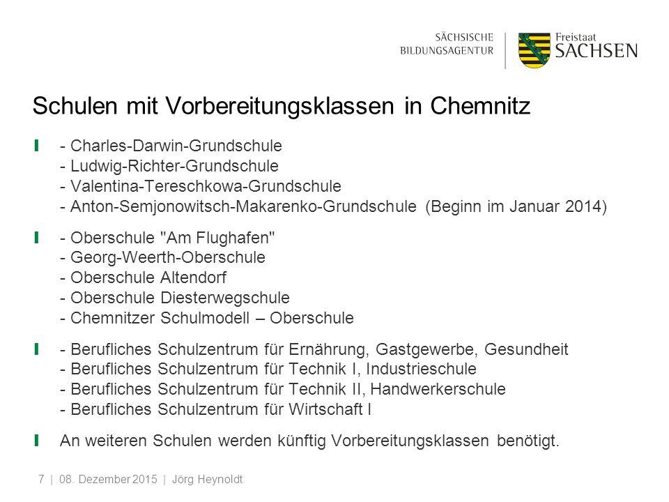 Schulen mit Vorbereitungsklassen in Chemnitz