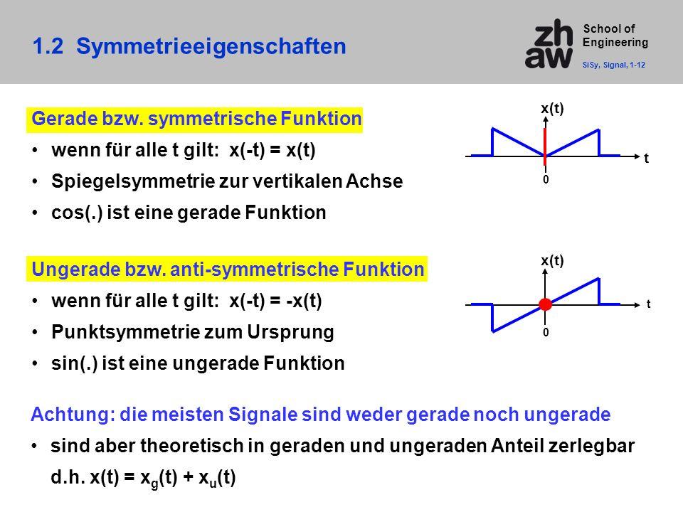 1.2 Symmetrieeigenschaften