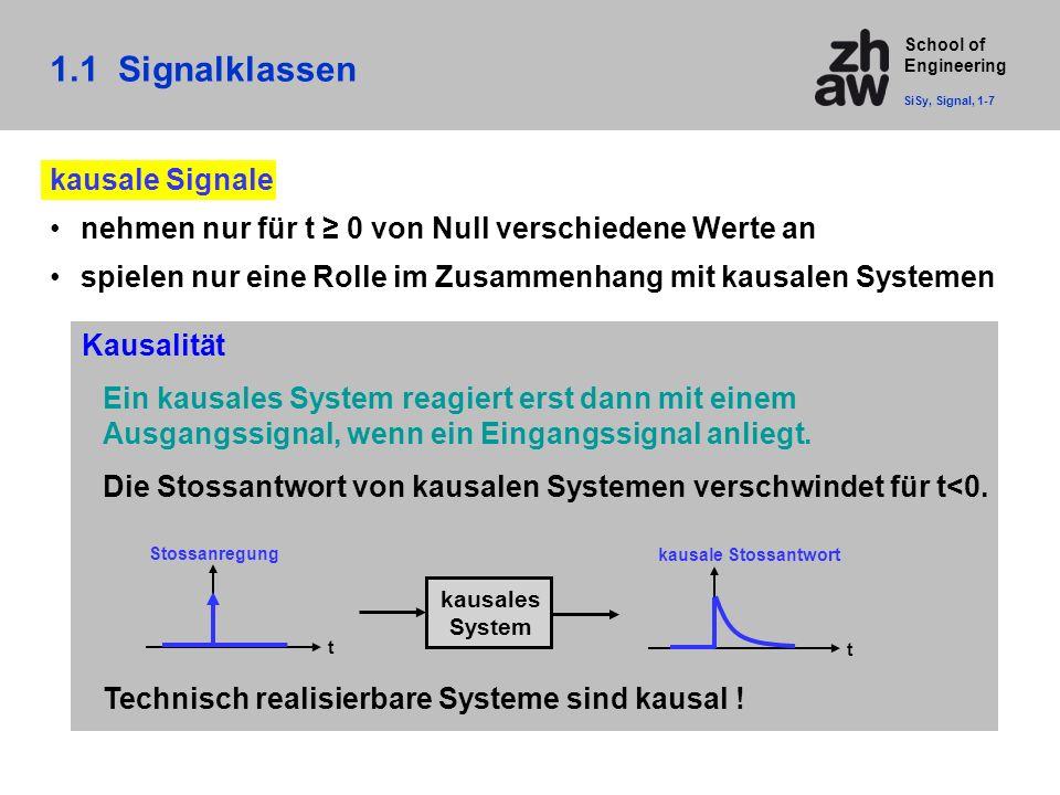 1.1 Signalklassen kausale Signale