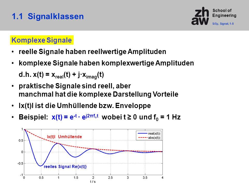 1.1 Signalklassen Komplexe Signale