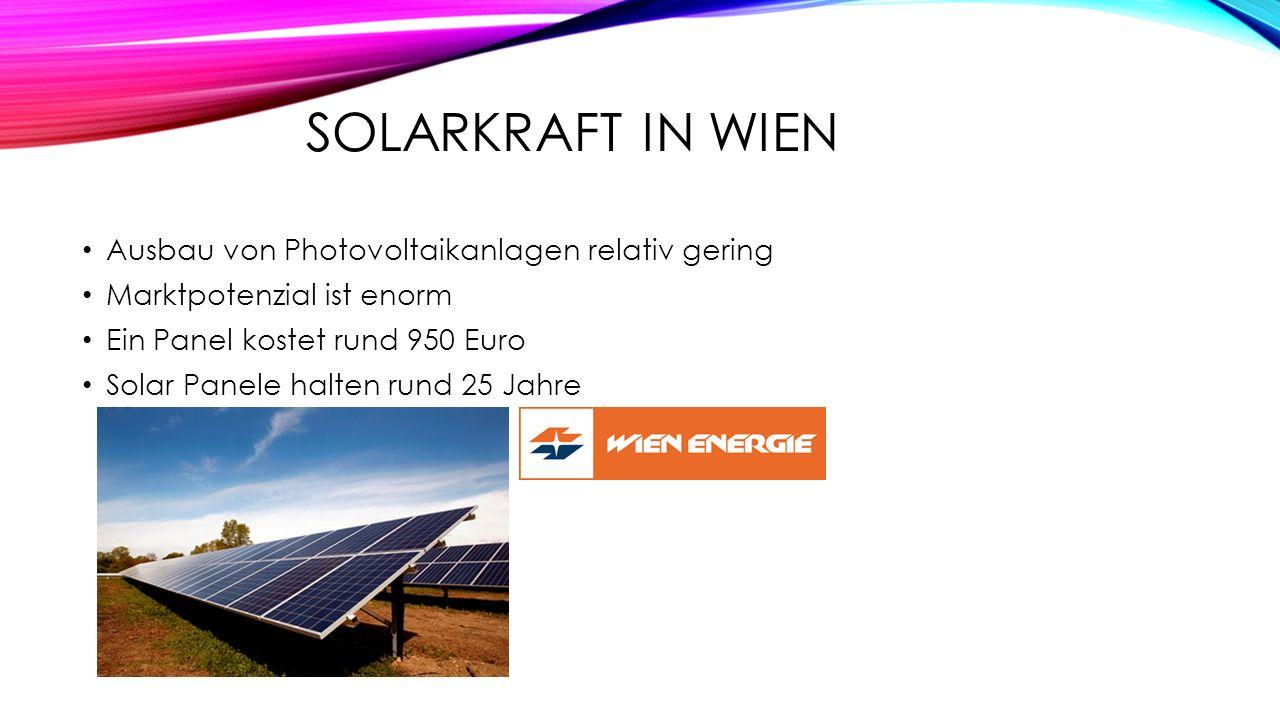 Solarkraft in Wien Ausbau von Photovoltaikanlagen relativ gering
