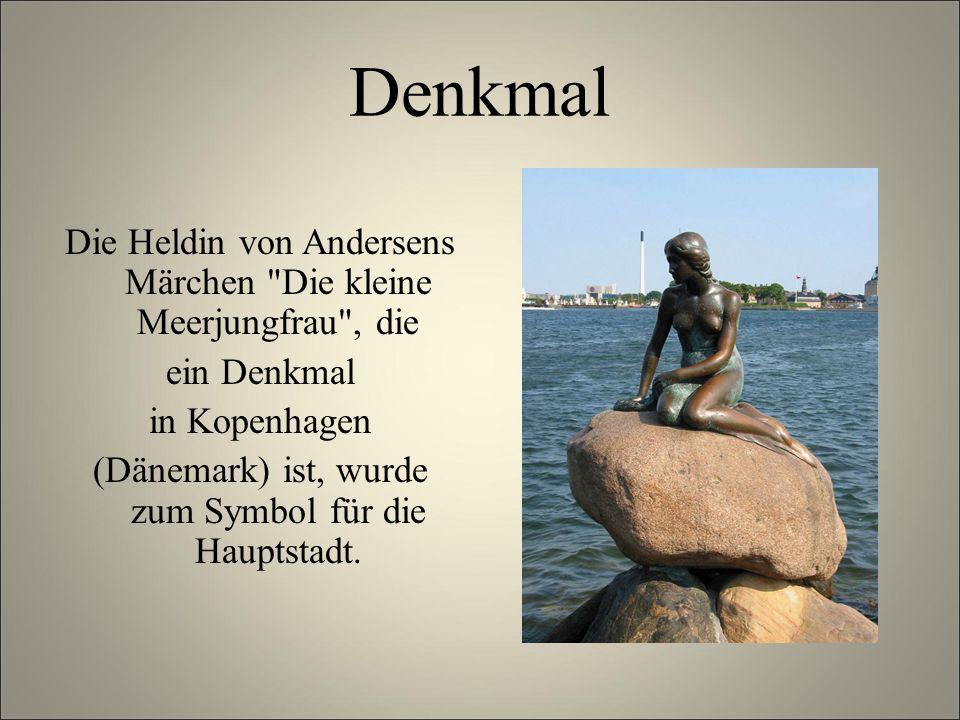 Denkmal Die Heldin von Andersens Märchen Die kleine Meerjungfrau , die. ein Denkmal. in Kopenhagen.