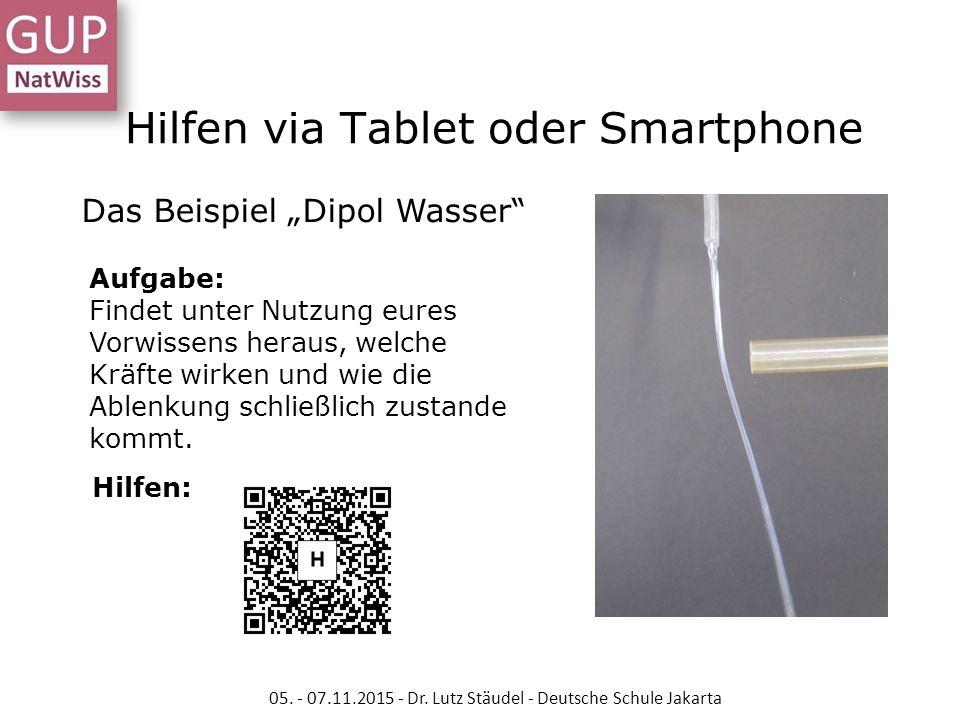 Hilfen via Tablet oder Smartphone