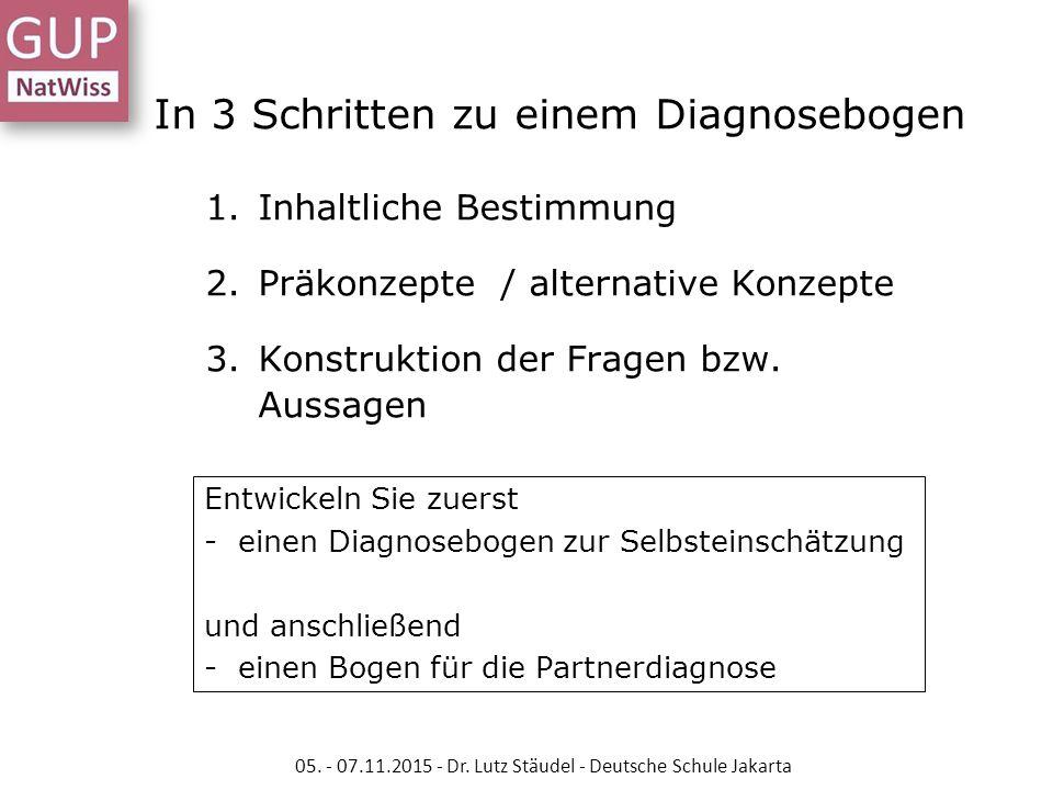 In 3 Schritten zu einem Diagnosebogen