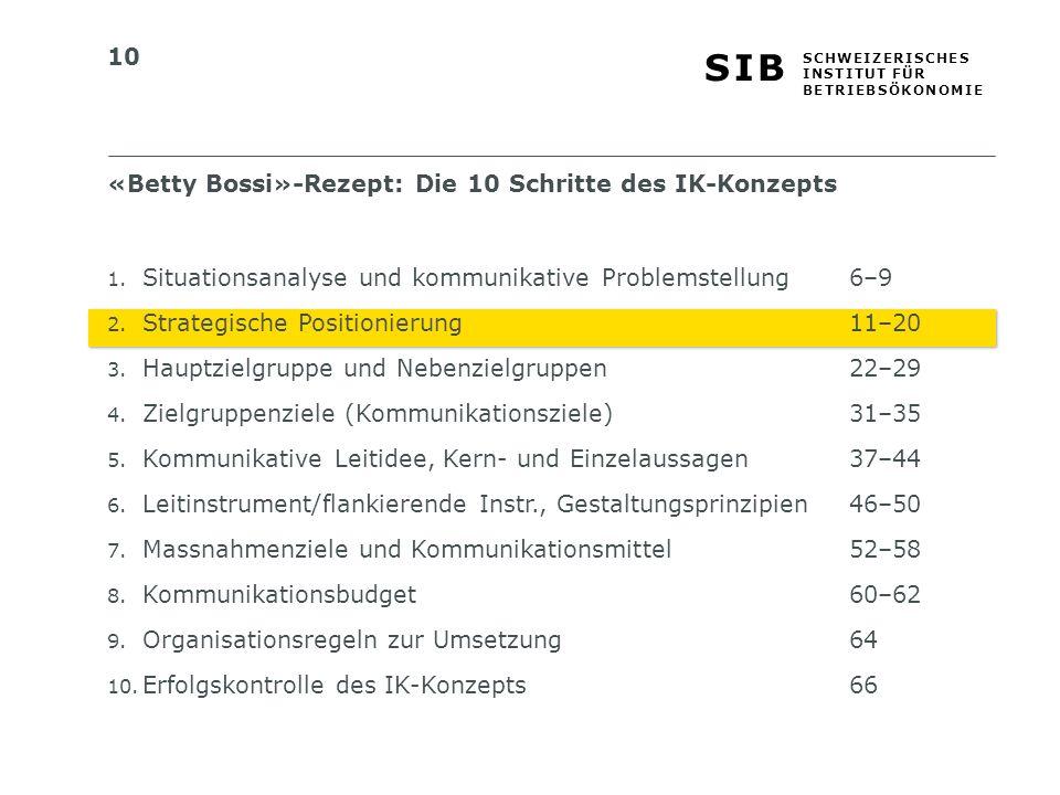 «Betty Bossi»-Rezept: Die 10 Schritte des IK-Konzepts