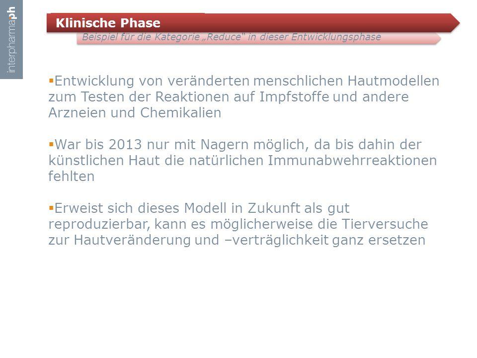 """Klinische Phase Beispiel für die Kategorie """"Reduce in dieser Entwicklungsphase."""