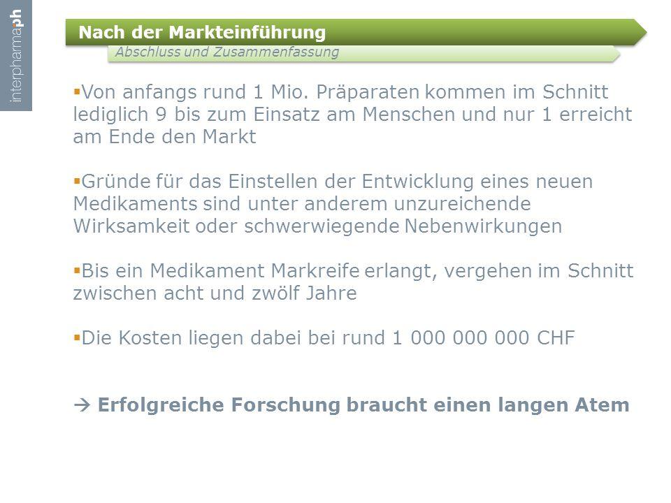 Die Kosten liegen dabei bei rund 1 000 000 000 CHF