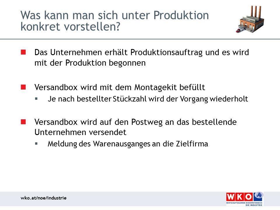 Was kann man sich unter Produktion konkret vorstellen