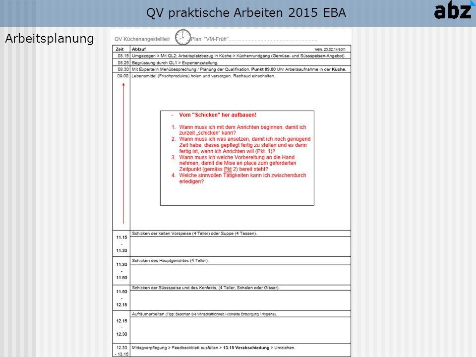 QV praktische Arbeiten 2015 EBA