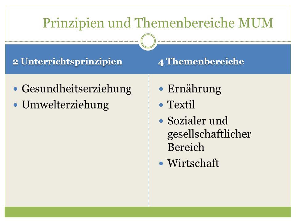 Prinzipien und Themenbereiche MUM
