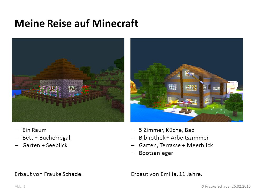 Meine Reise auf Minecraft