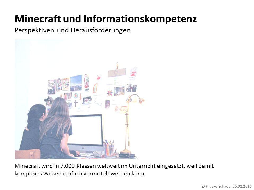 Minecraft und Informationskompetenz