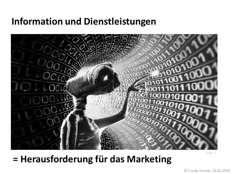Information und Dienstleistungen