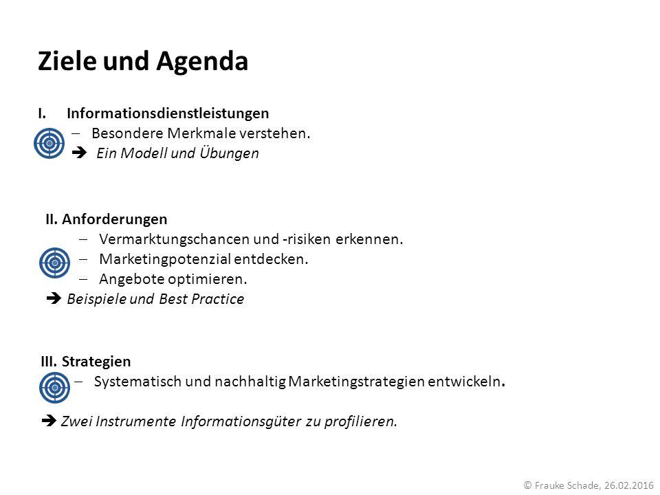 Ziele und Agenda Informationsdienstleistungen