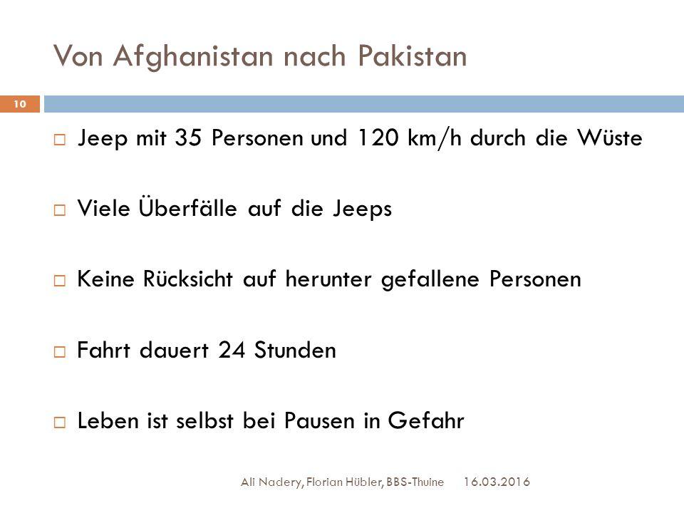Von Afghanistan nach Pakistan