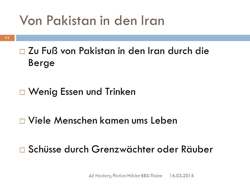 Von Pakistan in den Iran