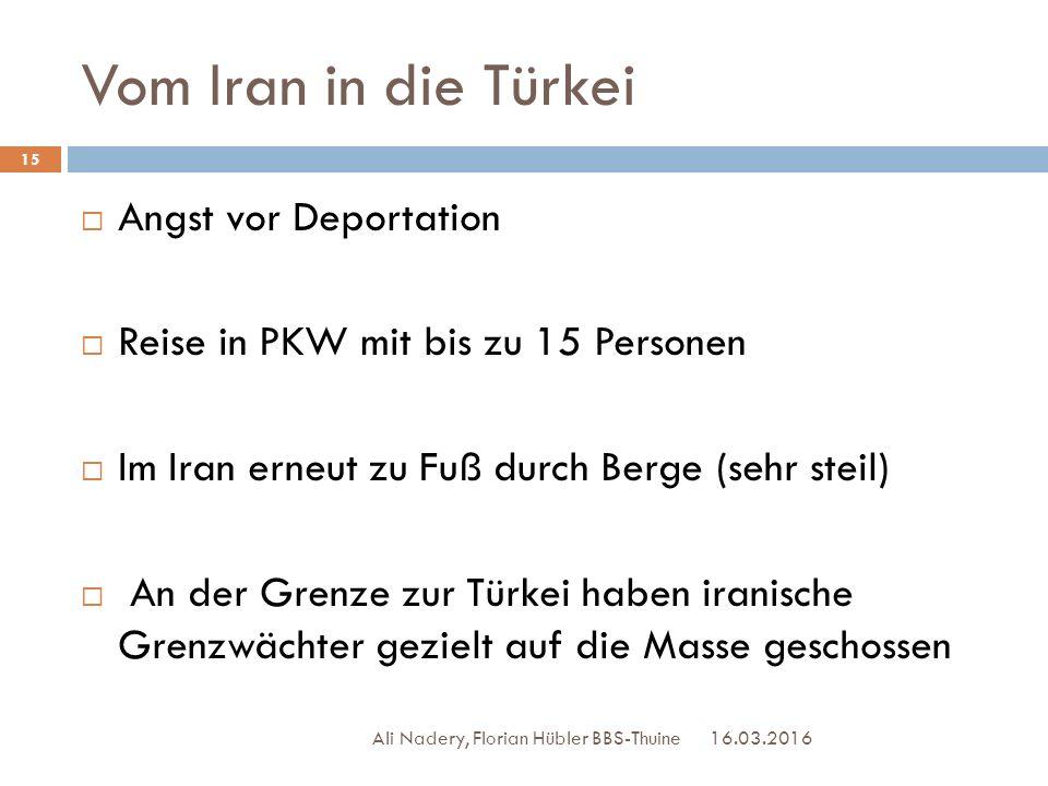 Vom Iran in die Türkei Angst vor Deportation