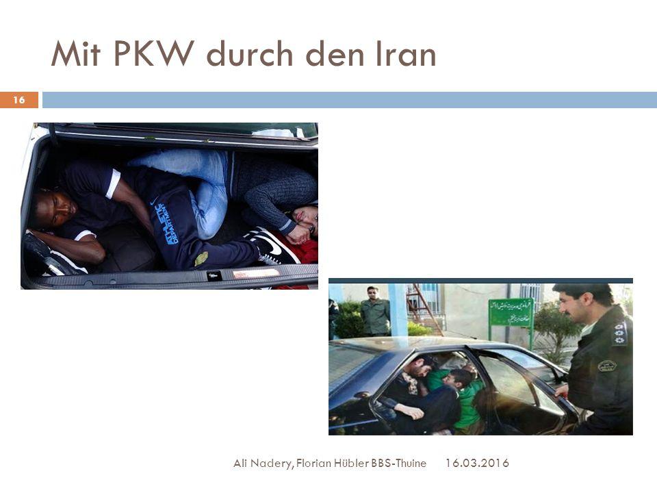 Mit PKW durch den Iran Ali Nadery, Florian Hübler BBS-Thuine