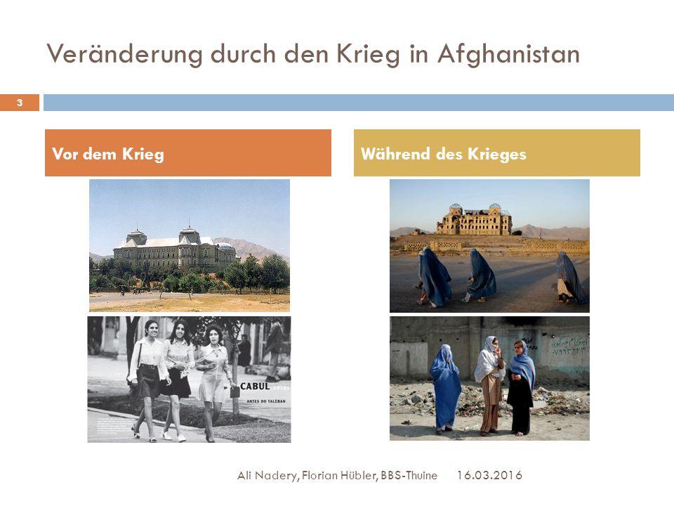 Veränderung durch den Krieg in Afghanistan