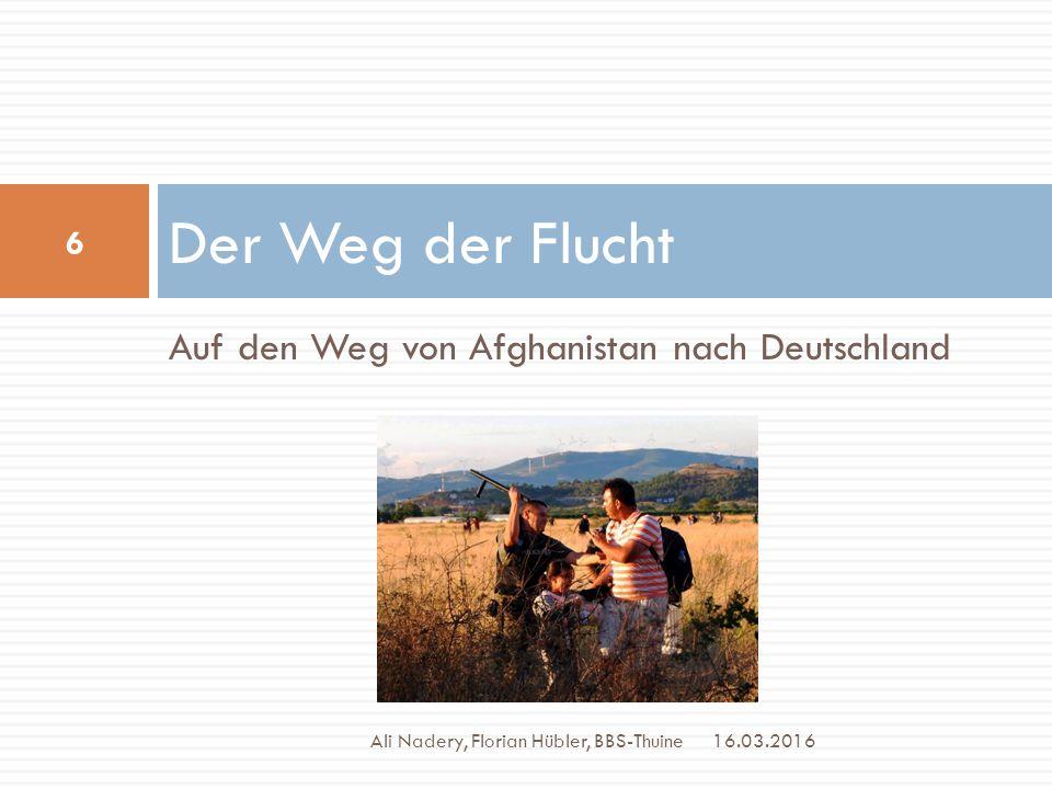 Der Weg der Flucht Auf den Weg von Afghanistan nach Deutschland