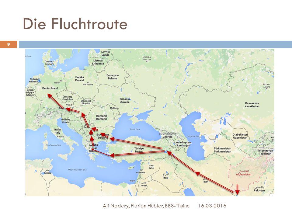 Die Fluchtroute Ali Nadery, Florian Hübler, BBS-Thuine 27.04.2017