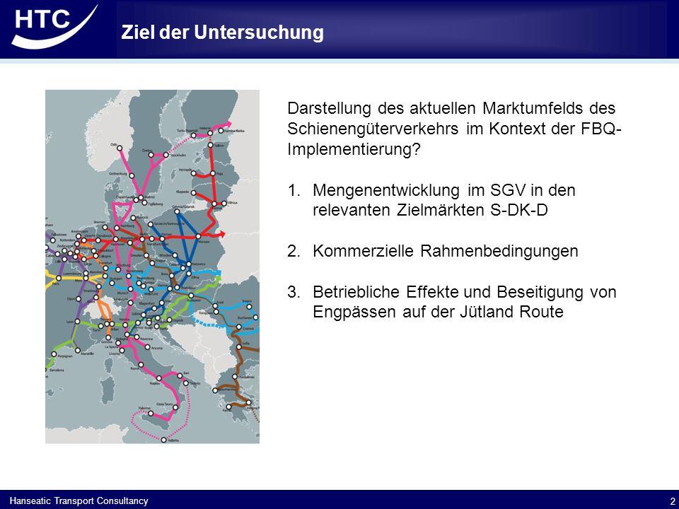Ziel der Untersuchung Darstellung des aktuellen Marktumfelds des Schienengüterverkehrs im Kontext der FBQ-Implementierung