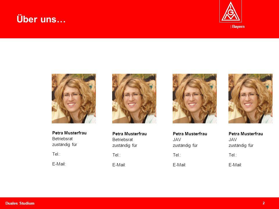 Über uns… Petra Musterfrau Betriebsrat zuständig für Tel.: E-Mail: