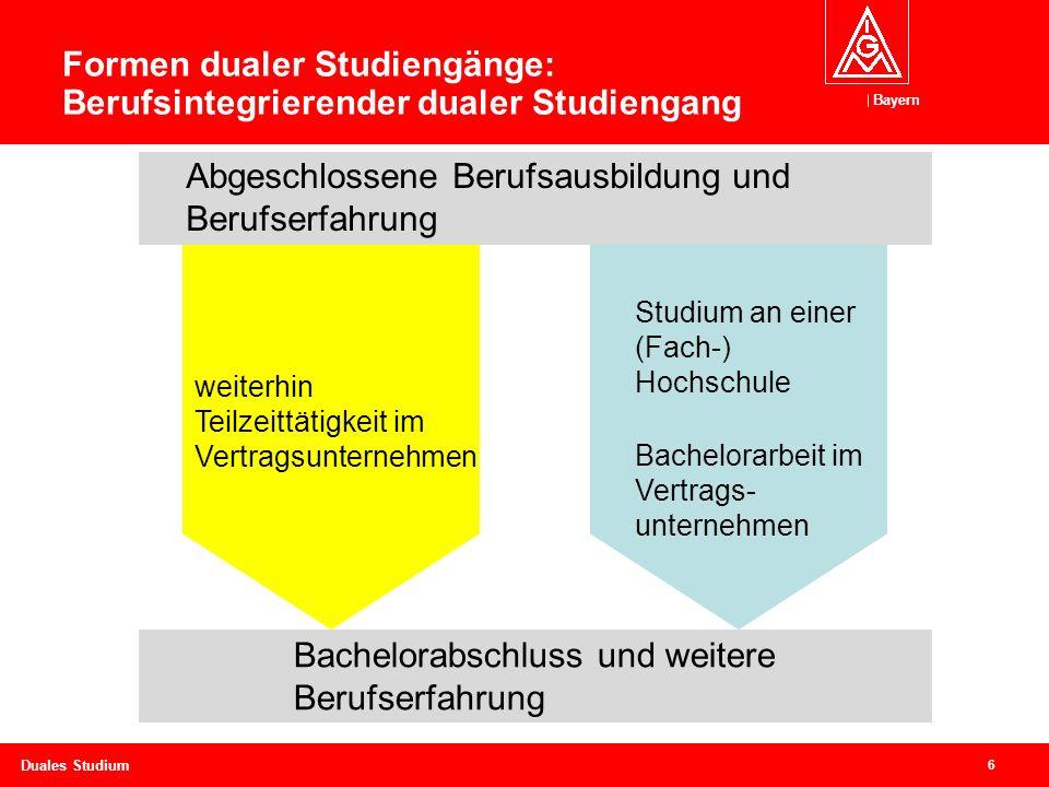 Formen dualer Studiengänge: Berufsintegrierender dualer Studiengang