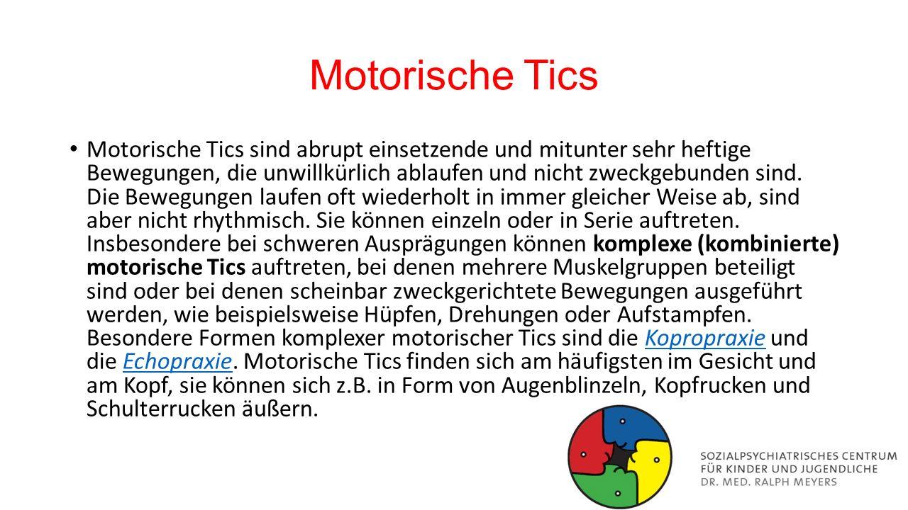 Motorische Tics