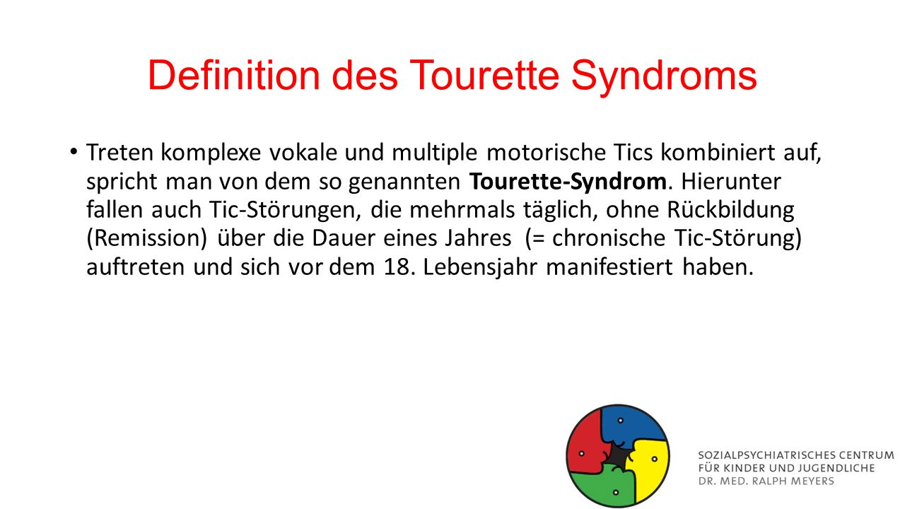Definition des Tourette Syndroms