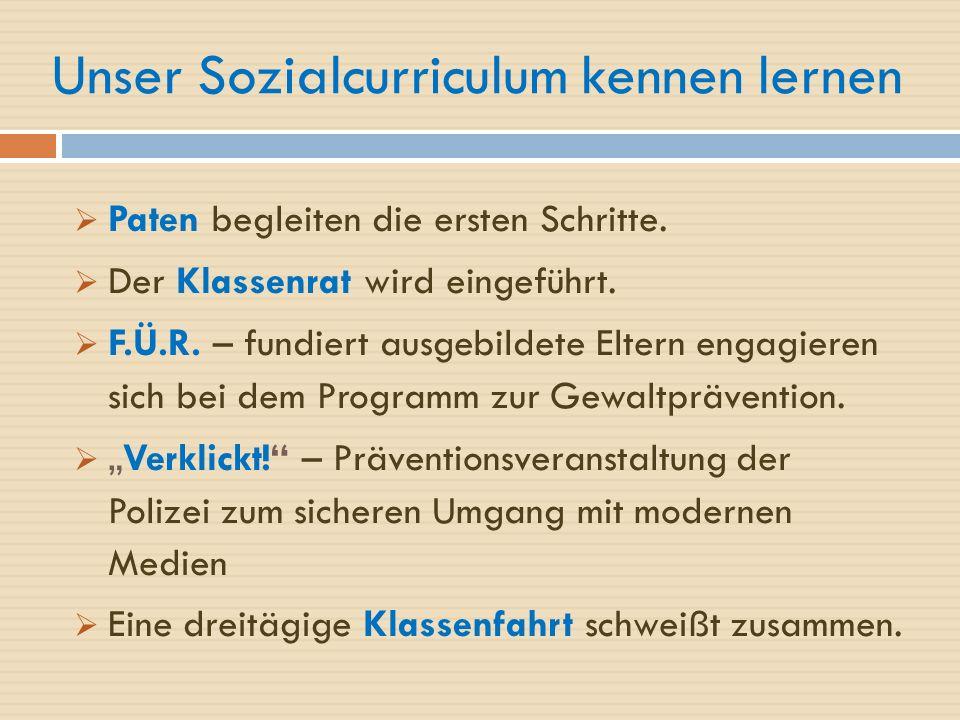 Unser Sozialcurriculum kennen lernen