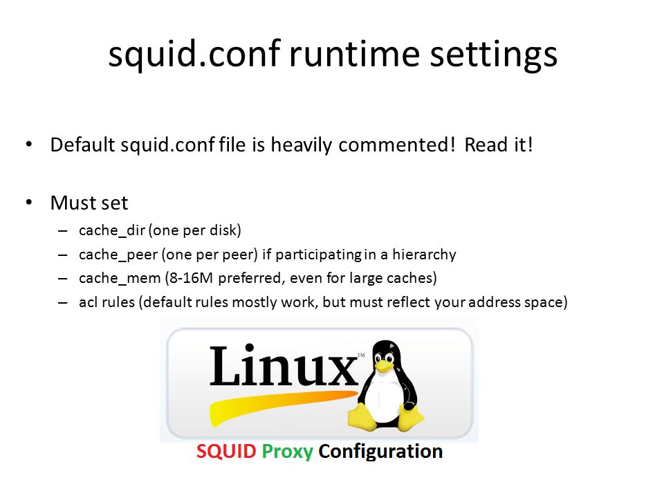 squid.conf runtime settings