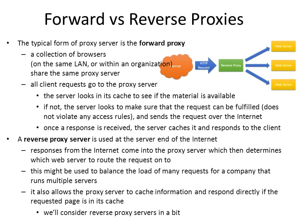 Forward vs Reverse Proxies