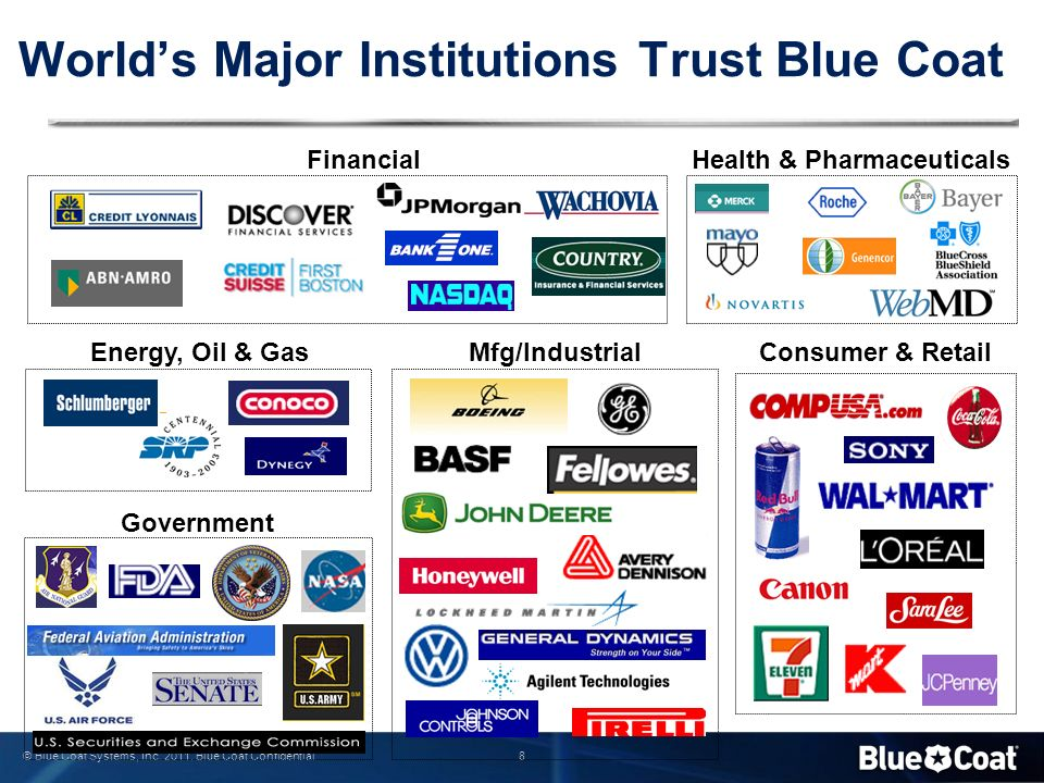 World's Major Institutions Trust Blue Coat