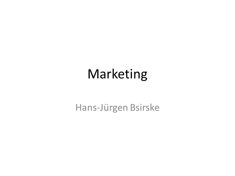 Marketing Hans-Jürgen Bsirske